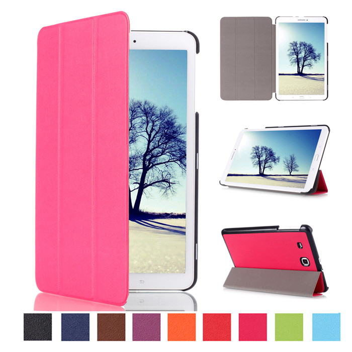 100Pcs PU Leather Cover Case for Samsung Galaxy Tab E 8.0 T377 T337A T377P T375 8 Tablet + Screen Protector ultra thin smart flip pu leather cover for lenovo tab 2 a10 30 70f x30f x30m 10 1 tablet case screen protector stylus pen