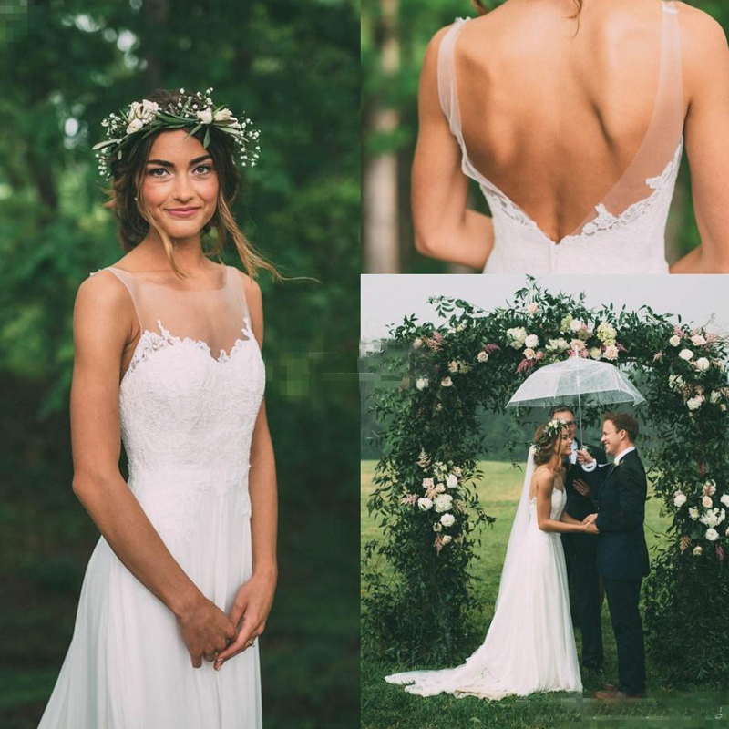 Garden Sheath Wedding Dresses