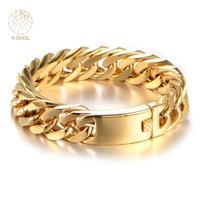 VCOOL Famous Brand Punk Style Bracelet Men Stainless Steel Men S Dubai Gold Bracelets Chain Link