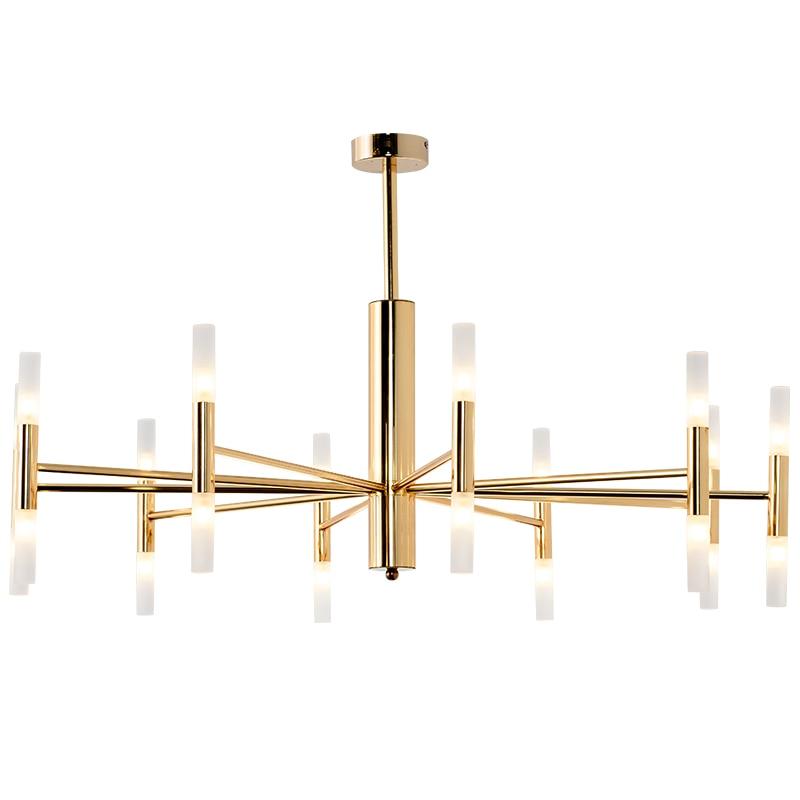 Modern LED Pendant light 20 head 40 head gold plating structure acrylic shade hanglamp G9 3W LED lamp fashion nodric droplight
