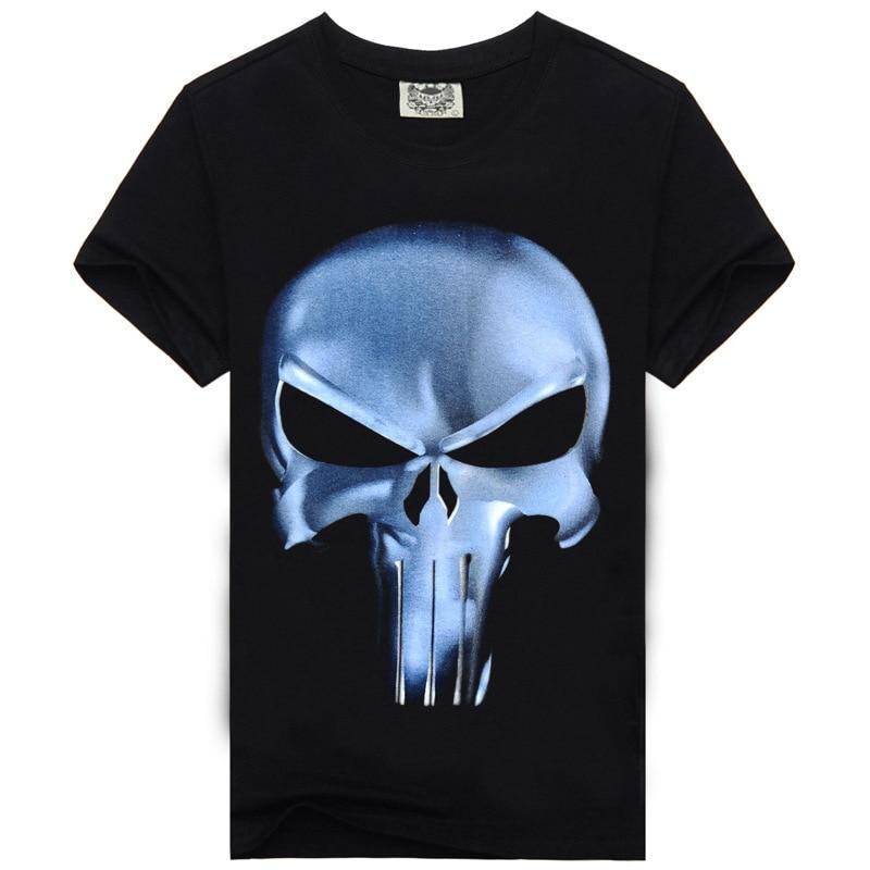 Rocksir punisher t shirt 남성 여름 처벌 스컬 헤드 그림 3D - 남성 의류 - 사진 3
