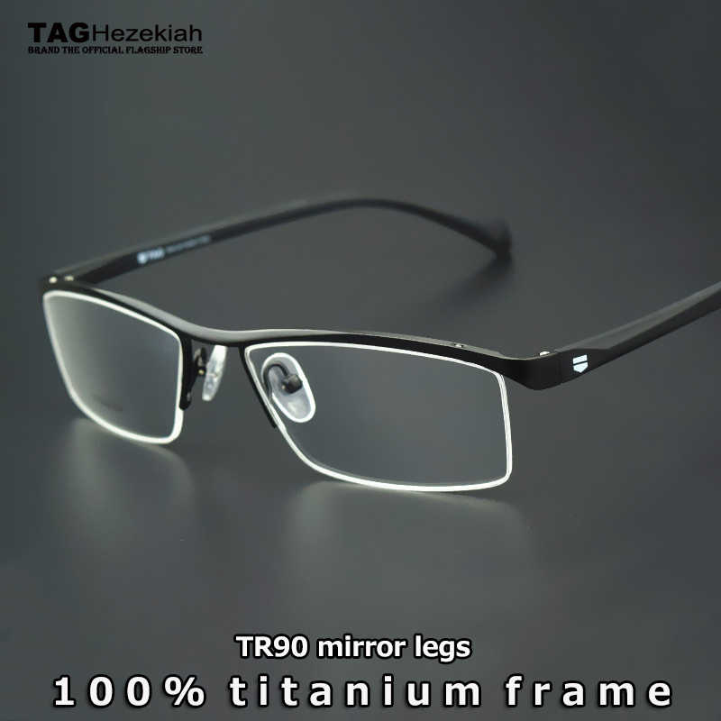 c16df2ec601 Eyewear Frames Brand titanium glasses frame women men 2019 Retro computer  myopia optical glasses oculos de