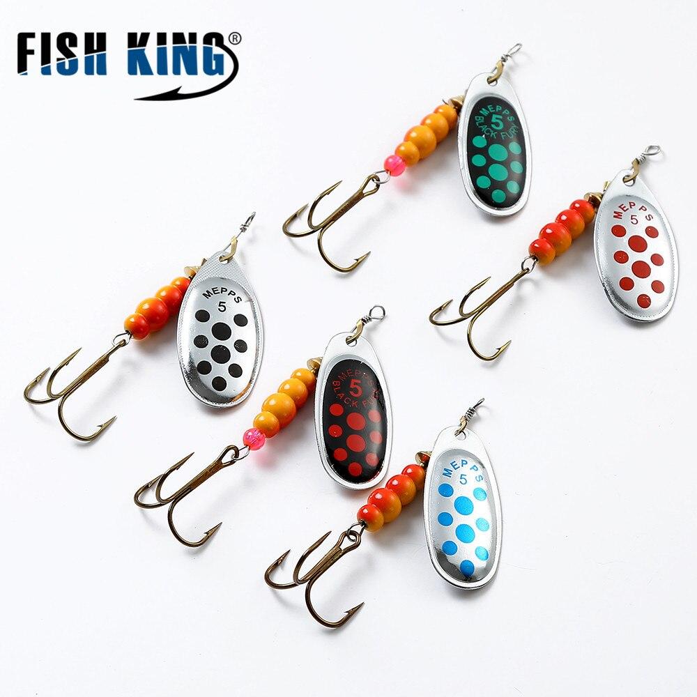 Рыбы король Mepps 6 Цвет 0 #-5 # Spinner приманки с mustad высоких Крючки 35647-BR arttificial приманки Рыбалка приманка