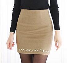 Novas Mulheres Terno de Negócio Saia Lápis Elegante De Lã Saias OL