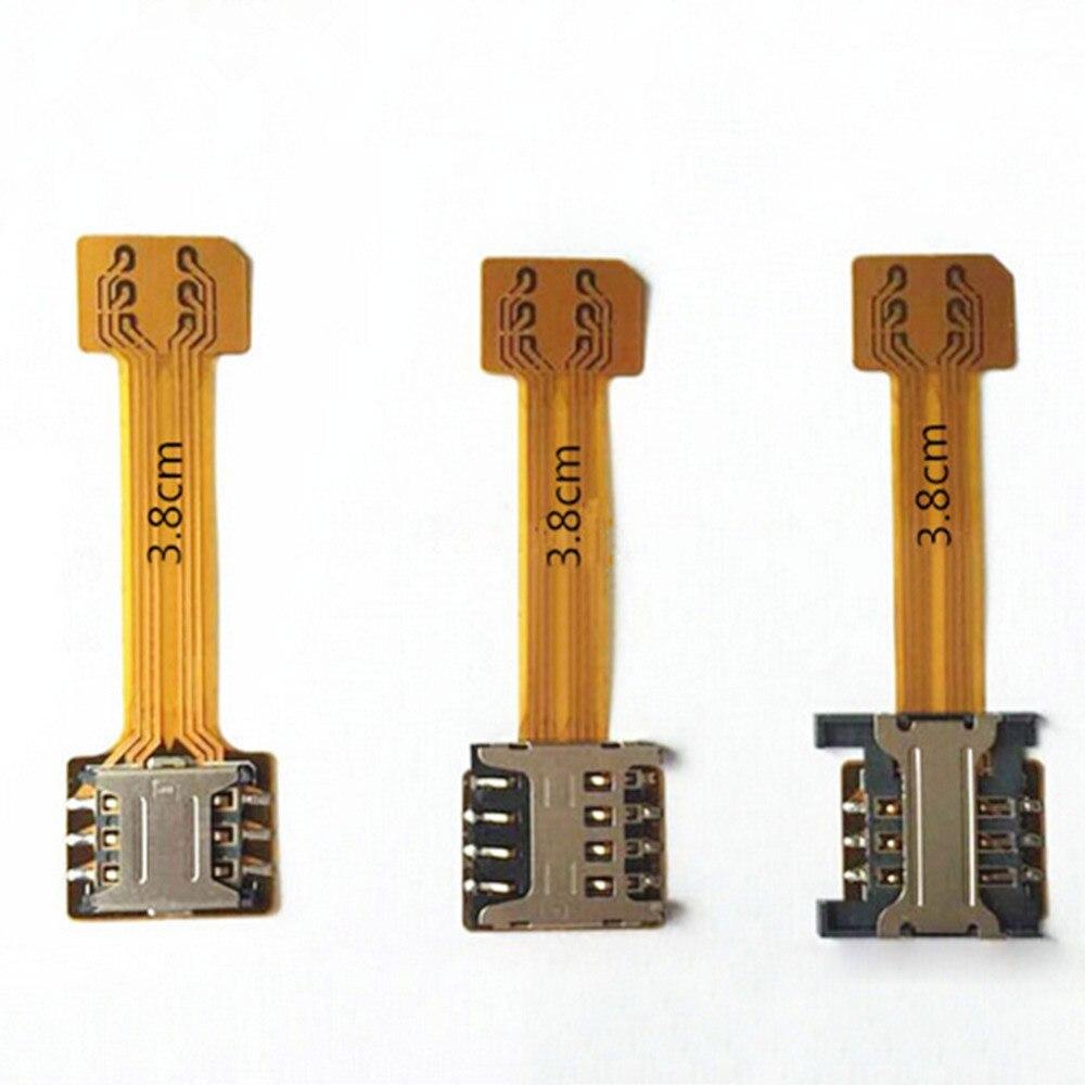 imágenes para 1000 unids Al Por Mayor Híbrido Doble Doble Tarjeta SIM Adaptador Micro para Android Adaptador SIM Nano para XIAOMI REDMI NOTA 3 4 3 s PRO Max