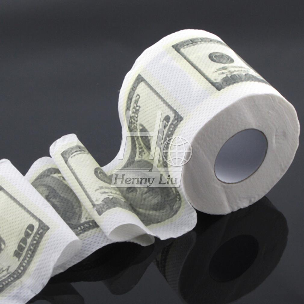 1pc One Hundred Dollar Bill Money Toilet Roll -  Toilet Paper Novelty Toilet Tissue