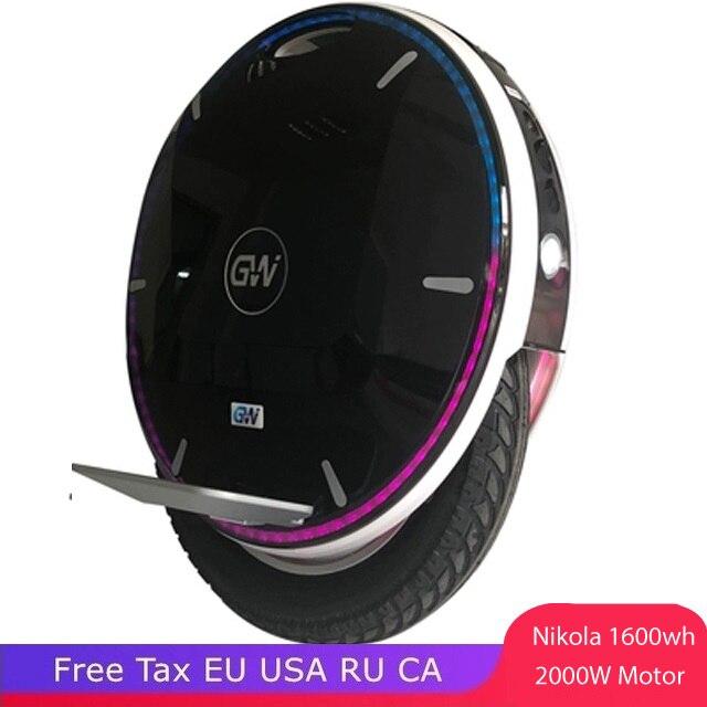 Nouveau monocycle Gotway Nikola 17 pouces monocycle électrique 84V 2000W 1600wh grande batterie Bluetooth APP intelligente
