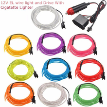 Strip Cable Flexible Rope-Tape Neon-Light Car-Decoration El-Wire LED Christmas-Glow Waterproof