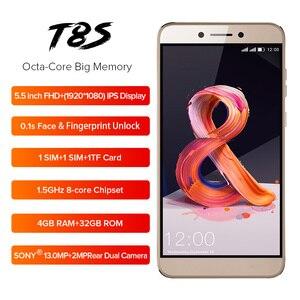 Image 3 - LEAGOO T8s נייד טלפון RAM 4 GB ROM 32 GB 5.5 אינץ FHD אנדרואיד 8.1 MT6750T אוקטה Core פנים מזהה 13MP OTG GPS Dual SIM 4G טלפונים חכמים