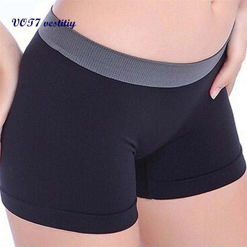 VOT7 vestitiy 2018 fashion lady shorts Women Workout Waistband Skinny Shorts trousers VE7