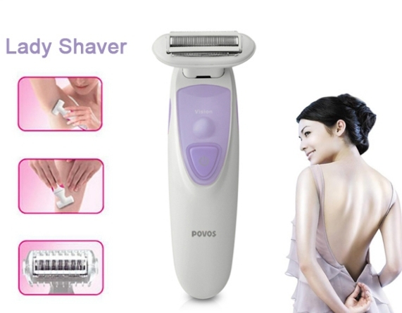 NEW 2016 POVOS PS1086 Lady Shaver Hair Removal Remover Women's Epilator Shaving for Bikini Body USB Rechargeable High Quality