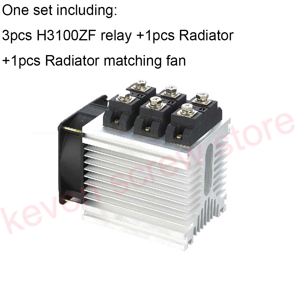H3100ZF-3 three phase DC to AC 100A 4-32VDC industrial grade solid state relay set/SSR set Not incluidng tax h360zf 3 three phase dc to ac 60a 4 32vdc industrial grade solid state relay set ssr set not not incluidng tax