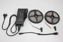10 meter Ip20 non- waterproof led strip light 5050  single color led rope+ 1 pcs 12V 8ATransformer