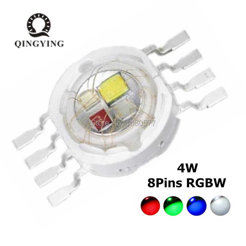 2 sztuk RGBW dioda led 8 pin wysoka dioda led dużej mocy 4W 8W 12W kolorowe cztero rdzeniowy źródła DIY odlewnictwo oświetlenie sceniczne led