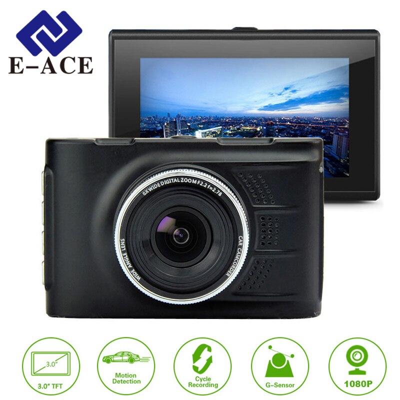 E-ACE Car Dvrs Mini Camera Novatek 96223 Dash Cam 3.0 Inch Full HD 1080P Auto Registrator Digital Video Recorder Camcorder junsun wifi car dvr camera video recorder novatek 96655 full hd 1080p dvrs registrator for volkswagen golf 7 2015 dash cam