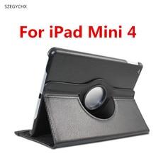 SZEGYCHX, Caja de la tableta Para el ipad Mini 4 Caso 360 Rotación del tirón Caso de Cuero de LA PU A1538/A1550 Cubierta Elegante con el Soporte función