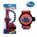 Оригинальные детские электронные часы Marvel  красивые проекционные часы с изображением Человека-паука  подарок для мальчиков