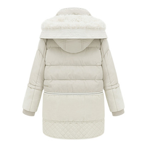 Image 2 - Women Midi Long Down Coat Big Size Down Jacket Lady White Duck Down Jacket Hooded Coats Female Thick Winter Jacket Outerwear 462