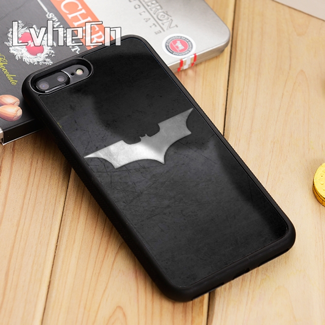 LvheCn Silver Superhero Batman Phone Ca Cover For iPhone 4 5  6 6s 7 8 10 X Samsung Galaxy S5 S6 S7 edge S8 S9 plus note 8 marvel glass iphone case