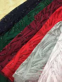 Tulle Embroidered Net Lace African French Laces Fabrics High Quality Nigerian French Net Lace 2018 CDN80
