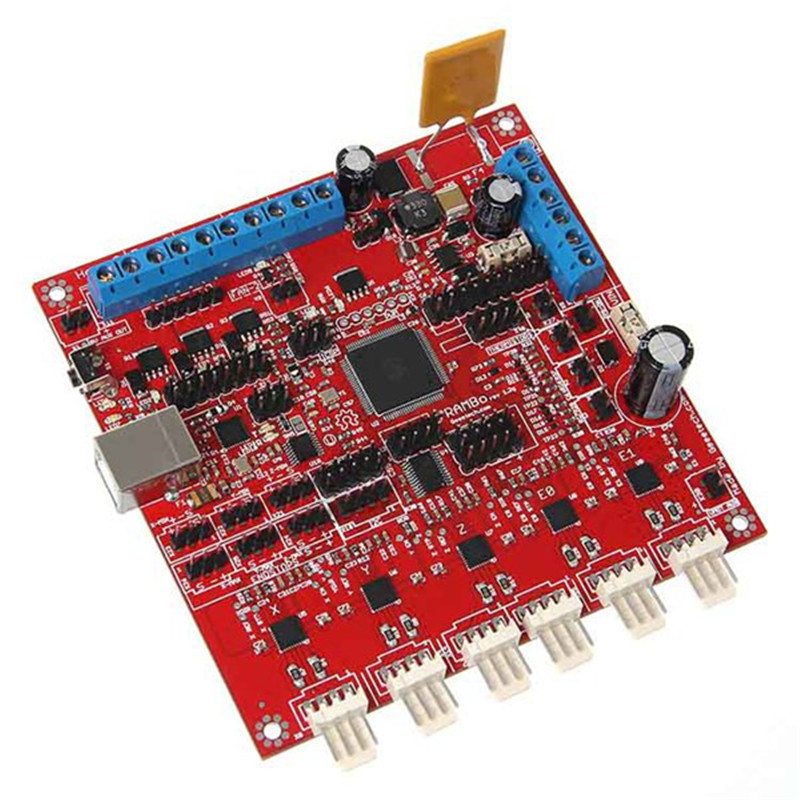 Microcontroller Board For 3D printer Integrates The Stepper Motor Hotbed Extruder Fan Driver And Thermometry 3d printer start kits mother board rumba board with 6pcs drv8825 stepper driver and 6pcs heatsink with free shipping