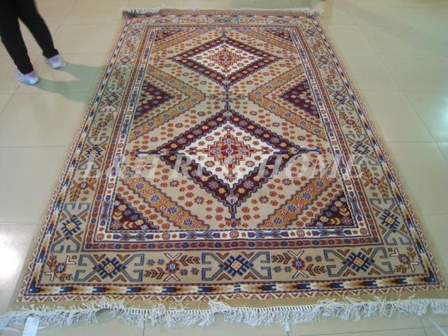 Envío libre 200x300 cm 140 línea mano anudada lana persa oriental ...