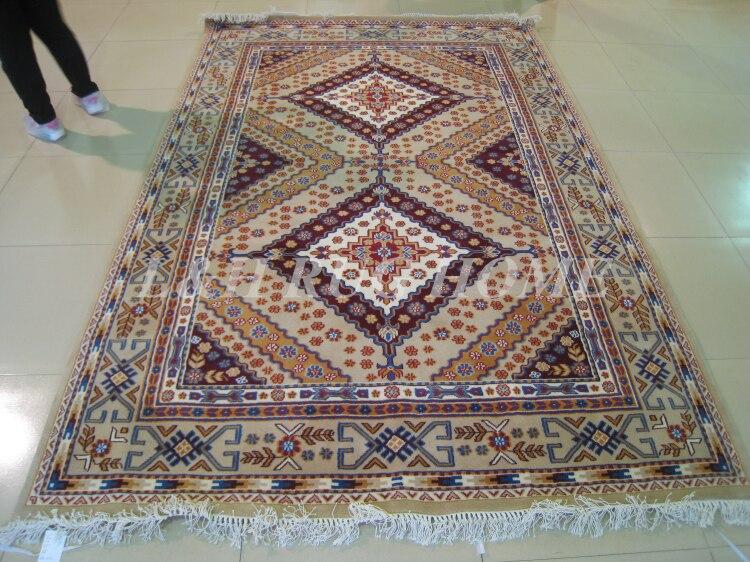 Livraison gratuite 200x300 cm 140 ligne laine nouée à la main Oriental persan tapis fait main tapis persan