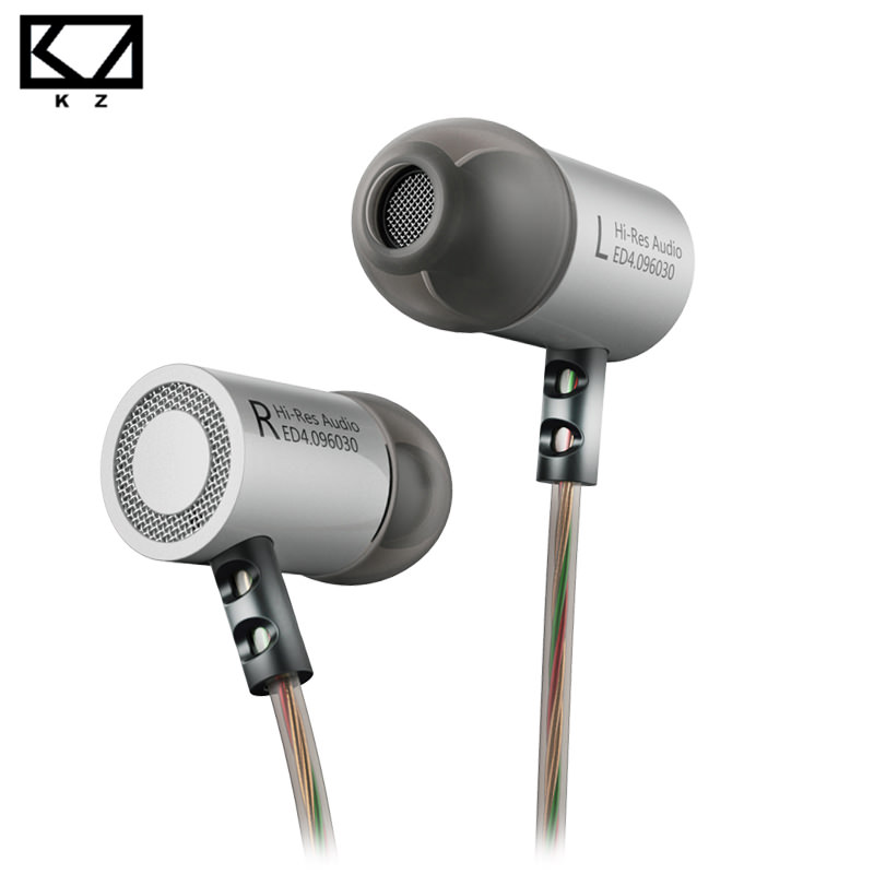 KZ ED4 Metal Stereo Earphones with HD Microphone for Phone HiFi Headset Bass Ear Phones Earbuds Monitor Noise Isolating Earpiece original kz ed9 in ear stereo earphones with mic phone metal hifi earbuds dj bass noise isolating headset drive unit earbuds