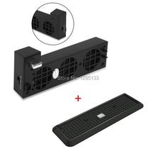 Вертикальная подставка 2 в 1 с охлаждающим вентилятором для консоли Xbox One X и контролем температуры