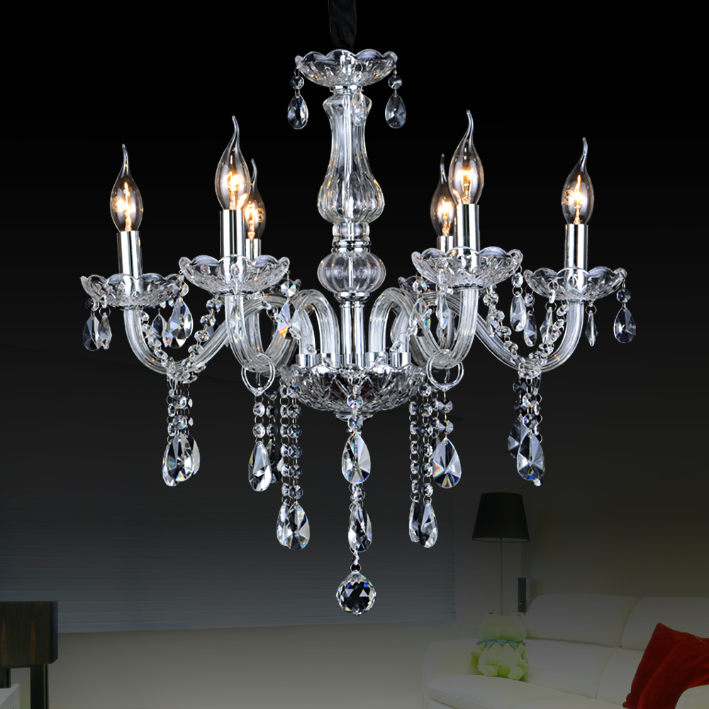 Crystal Large Chandeliers Contemporary Lampshades Murano Glass Chandelier Lampadari Moderni For Dining Room LightsChina