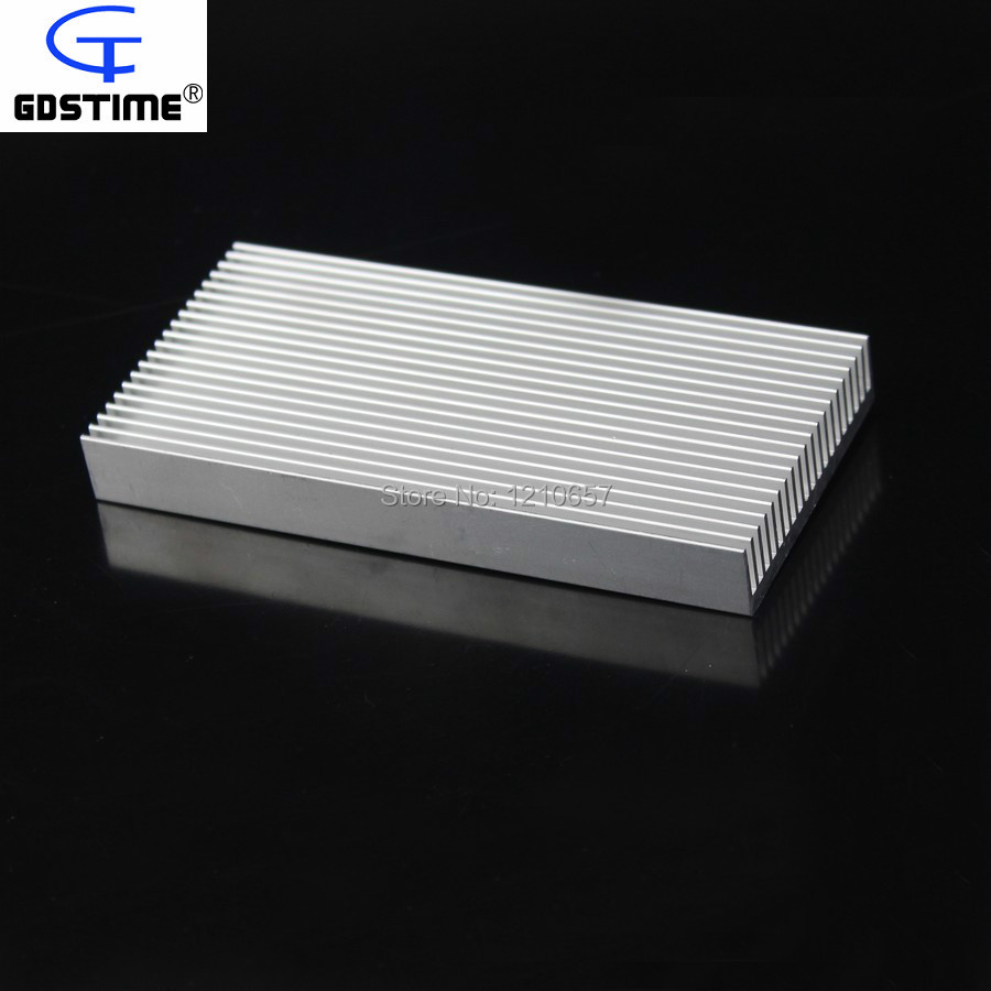 5PCS lot Gdstime Aluminium Radiator Heatsink Heat Sink 100mm x 48mm x 11mm 200pcs lot 0 36kg heatsink 14 14 6 mm fin silver quality radiator