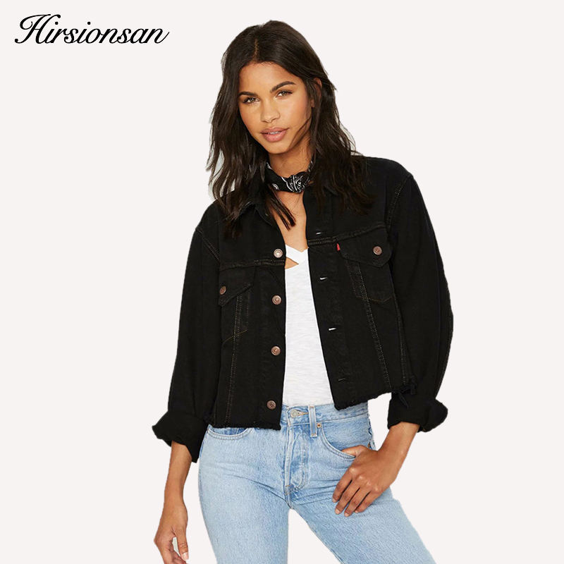 Popular Womens Black Denim Jean Jacket-Buy Cheap Womens Black ...