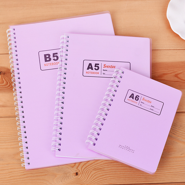 3 pcs box a5 a6 b5 spiral the coil notebook 180 pages thicker