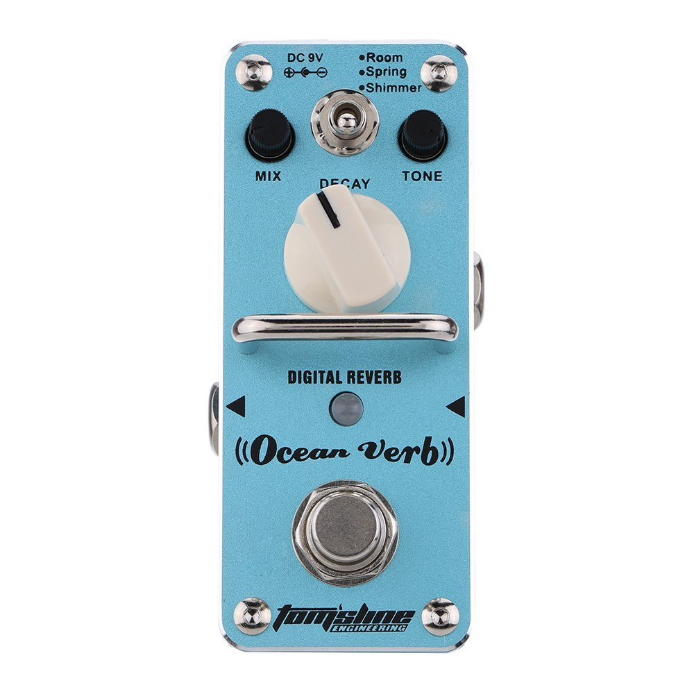 SYDS AROMA AOV-3 Ocean Verb Digital Reverb Electric Guitar Effect Pedal Mini Single Effect with True Bypass games verb bingo digital edition