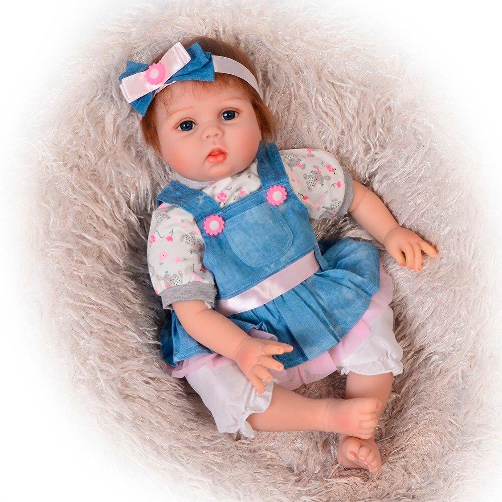 Fashion 22 Inch Soft Body Silicone Reborn Baby Dolls 55 cm Lifelike Newborn Princess Babies Girl