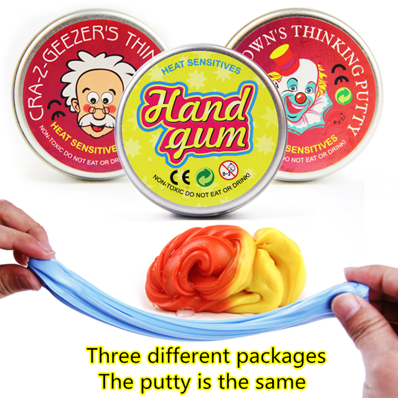 Handgum Temperature Change Turns Color Slime Magic Putty Toy Kids Plasticine 20b