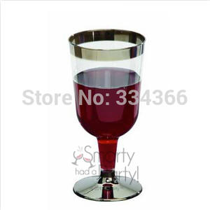 60pcs/ Plastic Wine Cup Disposable Plastic Drinkware 6oz Clearware Champagne Cup Fit For Wedding Glass FREE SHIPPING