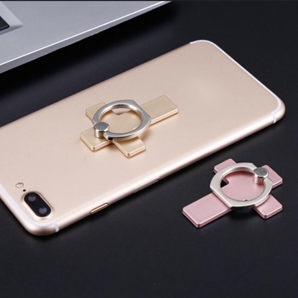 Etmakit Cross 360 Degree Metal Finger Ring Smartphone Stand Holder mobile phone holder stand For iPhone iPad Xiaomi