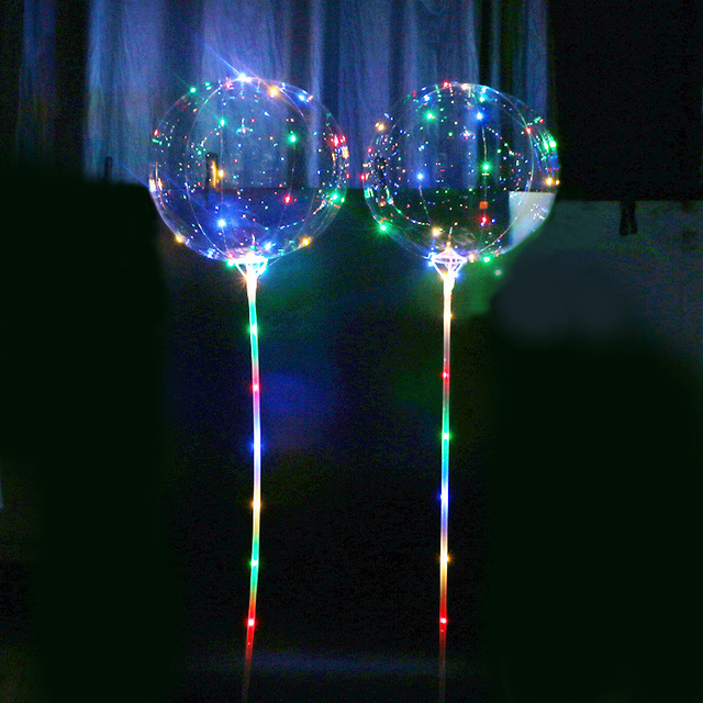 LED Light Up BoBo Balloon Flashing Colorful Transparent Balloons with Helium Great for Party