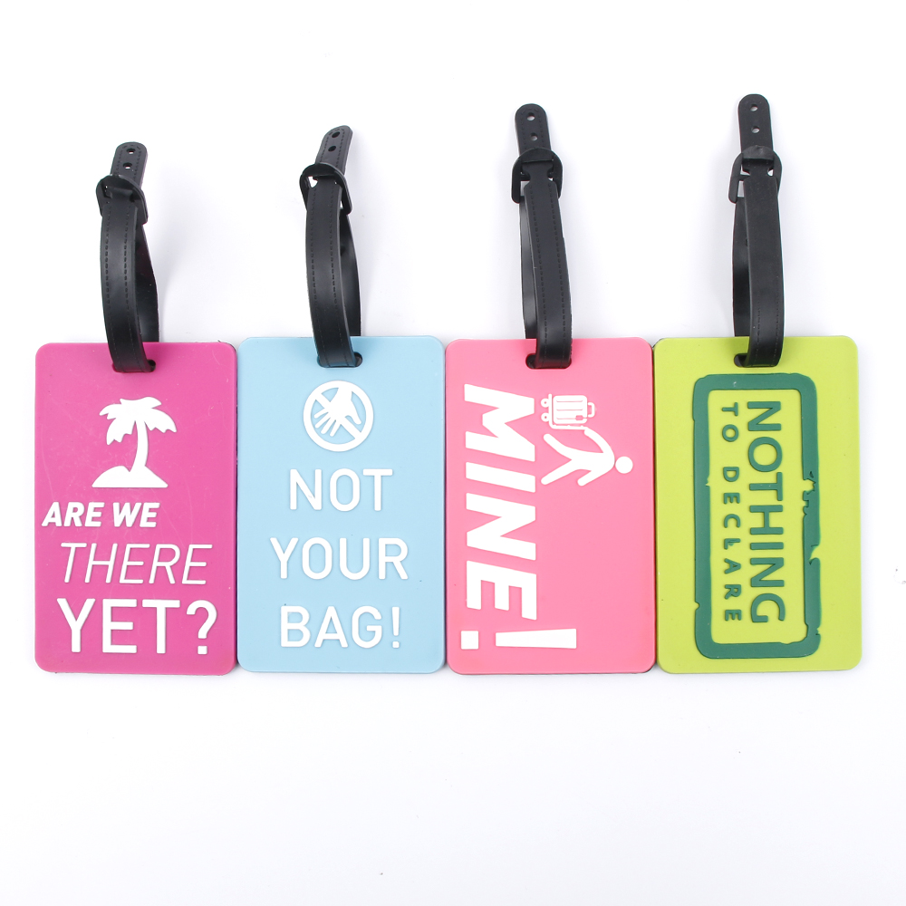 1PC  Suitcase Luggage Tags Identifier Label ID Address Holder Environmental Protection Cover Luggage Tag
