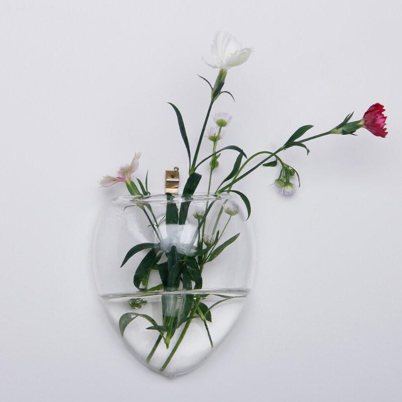 Рождество стены Террариум подвесной Стекло ваза для цветов стены Круглый Сфера Настольна ...