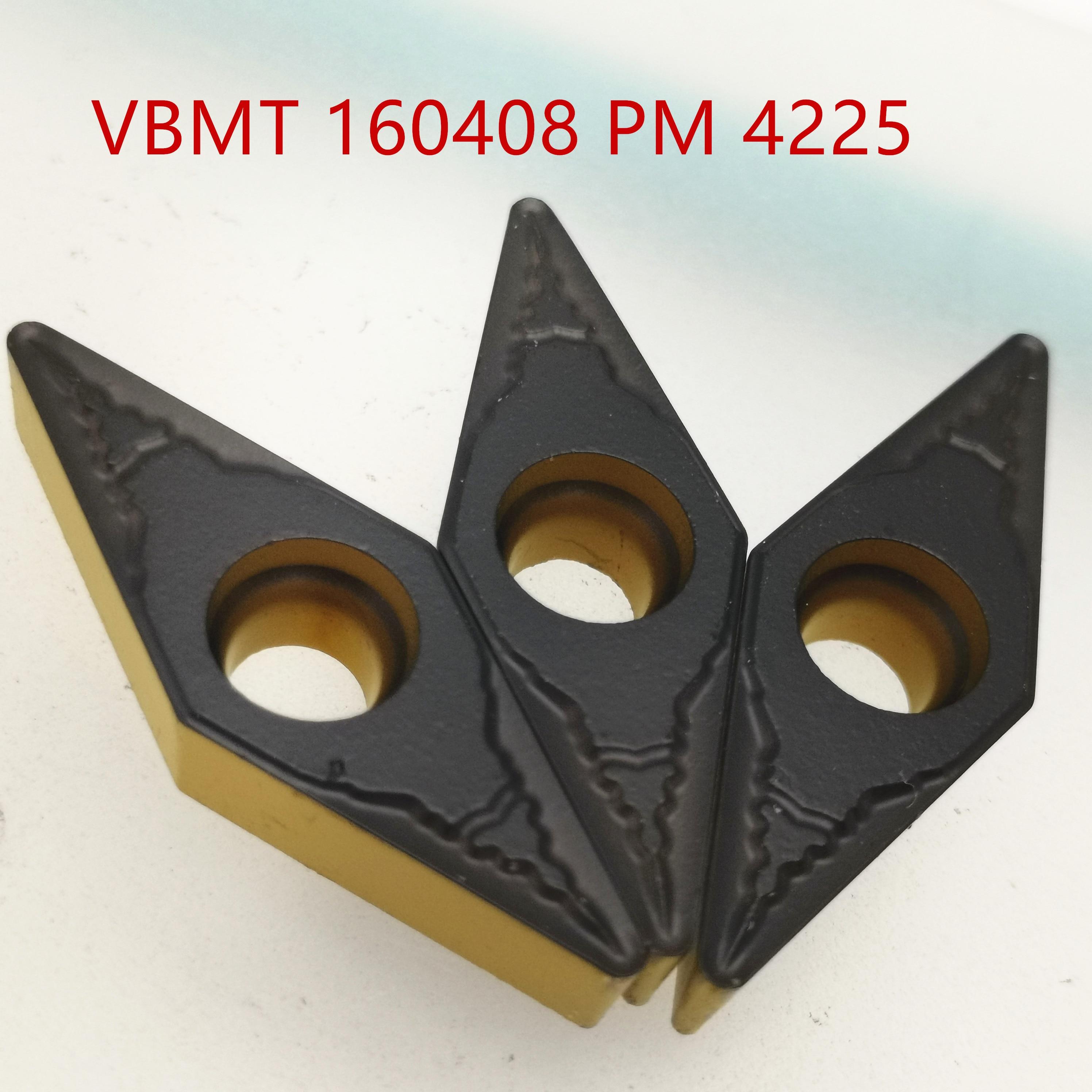 10PCS VBMT160408 PM4225 VBMT 160408  PM 4225 Carbide Insert Turning Tool Lathe Cutter Milling Cutter CNC Cutting Tool VBMT160404