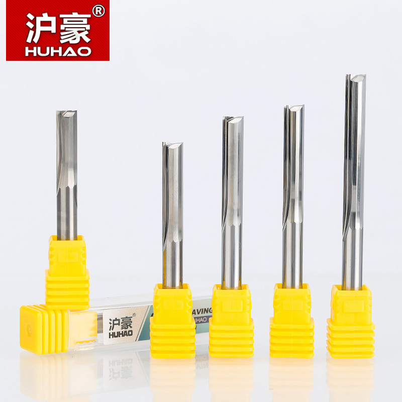 HUHAO 1pc 6mm Two Flutes Straight Router Bits For Wood CNC Straight Engraving Cutters Carbide Endmills Tools Milling Cutter