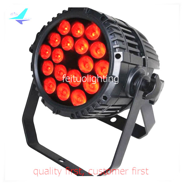 Hot Sell 18x18w RGBWA UV LED Par Light 6in1 Outdoor IP65 Waterproof Stage Lumiere Disco Party Wedding DJ Wash Par Can Lighting