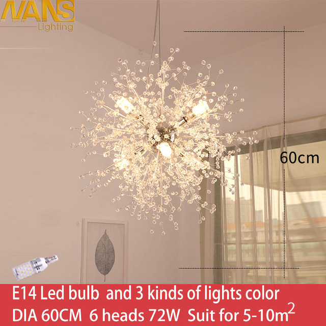 Fashional Modern led 72w chandelier with Control Color Changing acrylic lights Creative Home Lighting Fixtures Free Shipping