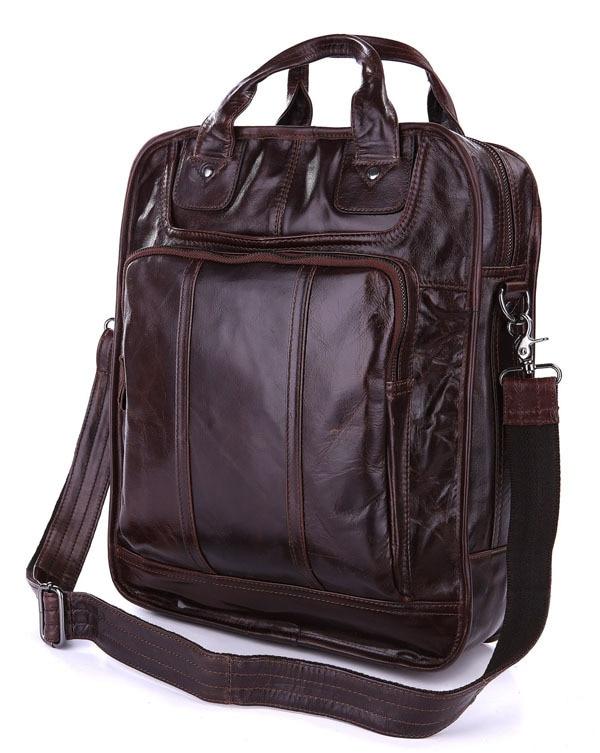 Multi-Purpose Genuine Vintage Tan Leather Mens Backpacks Shoulder Bag 7168CMulti-Purpose Genuine Vintage Tan Leather Mens Backpacks Shoulder Bag 7168C