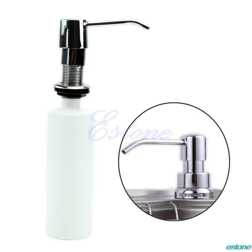 Kitchen Soap Dispenser Bottle: Plastic 300ml Bathroom Kitchen Sink Liquid Soap Dispenser