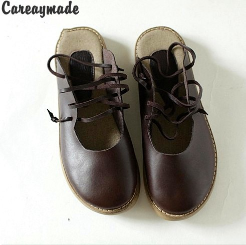 Careaymade-2018 new Genuine Leather pure handmade shoes, the retro art mori girl shoes,Women's casual Sandals,Coffee&Brown huifengazurrcs new pure handmade casual
