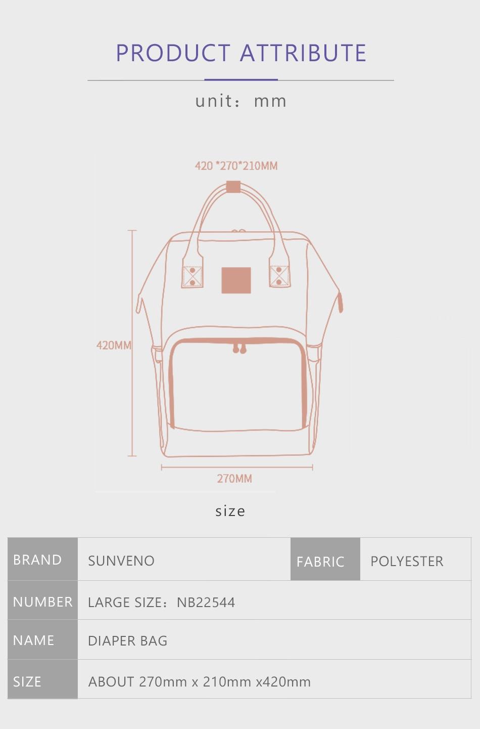 HTB1DJmum3DD8KJjy0Fdq6AjvXXah SUNVENO Mommy Diaper Bag Large Capacity Baby Nappy Bag Designer Nursing Bag Fashion Travel Backpack Baby Care Bag for Mother Kid
