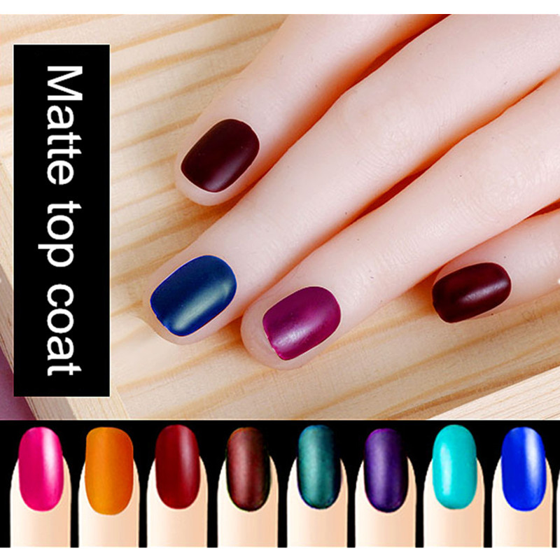 Perfect Summer Matt Top Coat Nail Art UV Gel Polish 8ml Clear Matte ...